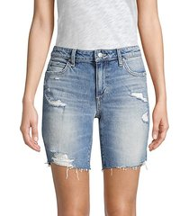 bermuda distressed denim shorts