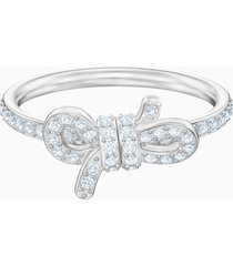 anello lifelong bow, piccola, bianco, placcatura rodio