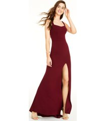 b darlin juniors' strappy-back gown