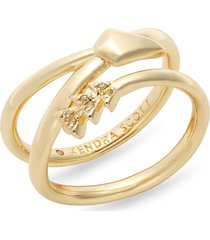 women's kendra scott zoey arrow wrap ring