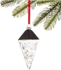 holiday lane black tie, glass diamond drop ornament, created for macy's