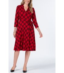 charter club plaid v-neck dress, created for macy's