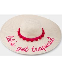 let's get tropical floppy hat - neon pink