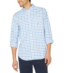 nautica men's plaid oxford shirt