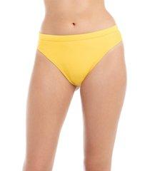 bikini calzón alto con pretina amarillo samia