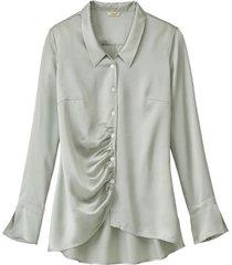 zijden blouse, riet 42
