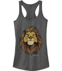 disney juniors' lion king africa ideal racerback tank top