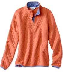 outdoor quilted snap sweatshirt, autumn glaze, x large