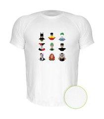 camiseta air nerderia e lojaria batman minimalista branca