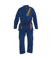 kimono jiu jitsu pretorian classic azul marinho
