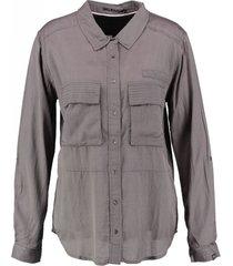 10 feet grijze blouse viscose katoen