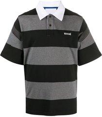 koché horizontal-stripe polo shirt - black