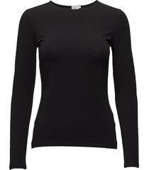 cotton stretch long sleeve t-shirts & tops long-sleeved zwart filippa k