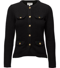 jacket gebreide trui cardigan zwart davida cashmere