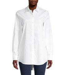 ck jeans women's poplin long-sleeve shirt - white - size s