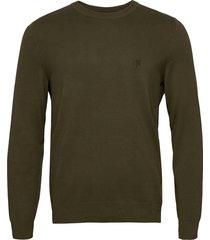 pullover long sleeve stickad tröja m. rund krage grön marc o'polo