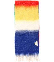 lovat & green multicolor striped scarf