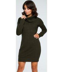 sukienka sweter mini z golfem