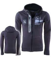 geographical norway heren vest capuchon sweat yacht geepsy donker