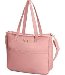 bolsa maternidade hug baby classic rosa - tricae