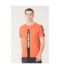 camiseta onbongo estampada laranja