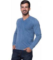 suéter basic le tisserand stoned blue jeans - kanui