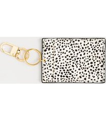 chelsea animal print card case - black/white