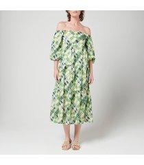 faithfull the brand women's falabelle midi dress - billie check print - l
