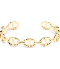 zenzii gold-tone oval link cuff bracelet