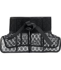 loewe lace corset belt - black