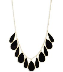 18k yellow gold & onyx necklace