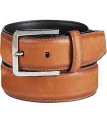 calvin klein men's burnished-edge leather belt