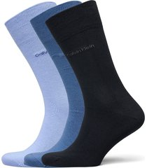 ck 3pk eric cotton 003 underwear socks regular socks blå calvin klein