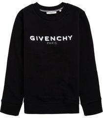 givenchy black cotton sweatshirt with logo