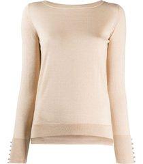 snobby sheep swarovski-embellished pullover - neutrals