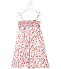 bonpoint cherry print dress - white