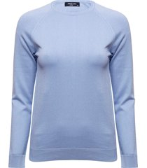 blusa anselmi decote redondo azul