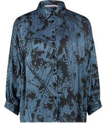 aaiko sade strokes 520 blouses steel blue