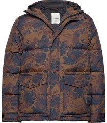 sander jacket gevoerd jack multi/patroon wood wood