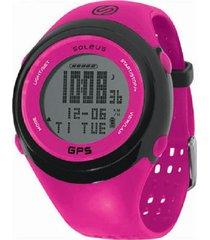 reloj soleus gps fit 1.0 fucsia/neg