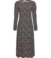 dee midi dress maxi dress galajurk zwart soft rebels