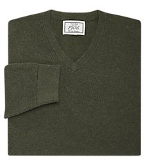 1905 collection cotton v-neck textured men's sweater - big & tall clearance