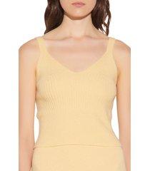 women's sandro ribbed wool sweater tank, size 1 - yellow