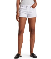 women's hudson jeans gemma high waist cutoff denim shorts, size 23 - white