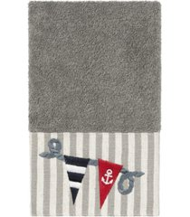 linum home 100% turkish cotton ethan embellished hand towel bedding