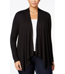 inc international concepts plus size draped cardigan, created for macy's