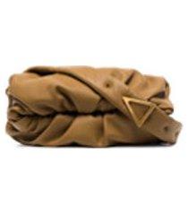 bottega veneta bolsa tiracolo marrom de couro - verde