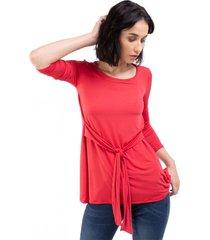 blusa roja mia loreto lamington