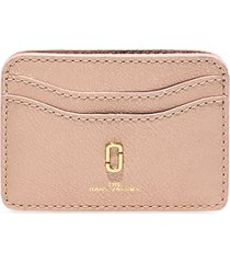 marc jacobs the softshot pearlized card case - pink