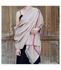 wool shawl, 'sand garden' (india)